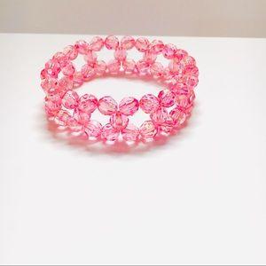 NWT Pink Crystal Handmade Cuff Bracelet Gift